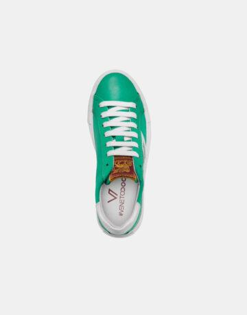 Venetodoc-sneakers-scarpe-shoes-Burano-Smeraldo-verde-sopra